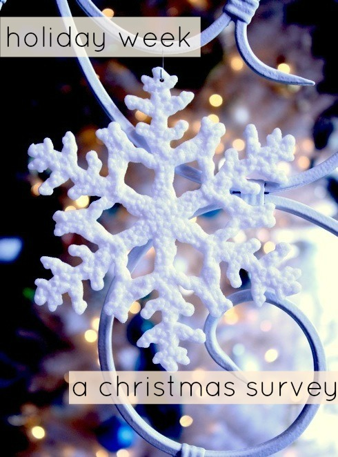 i was struggling to come up with a topic for my last day of holiday week 2012 when i saw a fun christmas survey posted on tinas blog - What Day Of The Week Is Christmas On