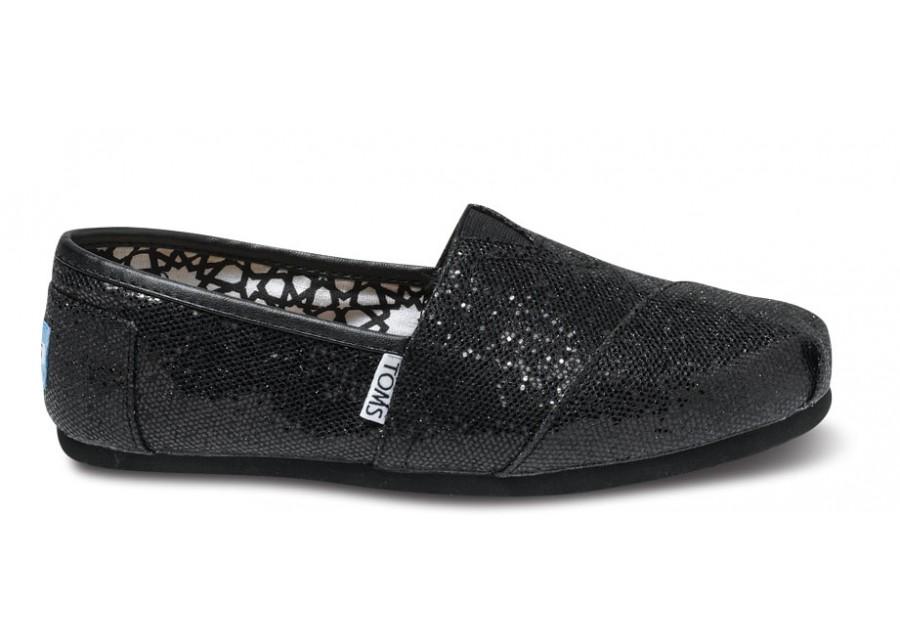 Black glitter TOMs