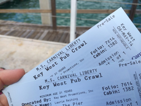 pub crawl tickets