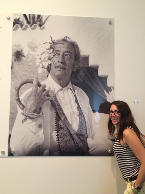 Bri with Dali painting
