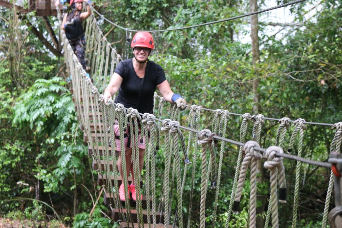 Rope bridge Mom