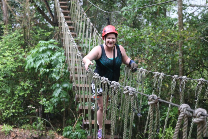 Rope bridge Steph